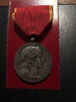 """Medalla de Plata Atribuido de """"la Sociedad Industrial de Este """"Quemador Dupuis"""