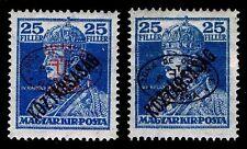 1919 HUNGARY #2N49 & 2N49a ROMANIAN OVERPRINTS - OGH - VF - CV $28.25 (ESP#9894)