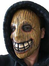 Wooden Wood Face Killer Latex Mask Full Head Halloween Horror Movie Fancy Dress