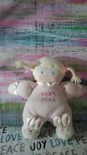 """ESPECIALLY BABY GIRL PINK Doll LOVEY Toys R Us Bunny Slippers RATTLE PLUSH 8"""""""