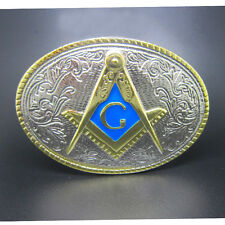 Vintage Masonic Freemason Masonry Mason Belt Buckle Mens Secret Sect Society