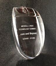Merrill Lynch Historical Memorabilia Technology Glass Crystal Computer Mouse