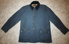 Barbour ASHBY Waxed Jacket in Navy Blue - XL [3934]