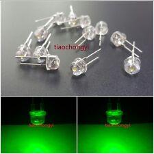 100PCS DIP LED 8mm Green 520nm 0.5 Watt Wide Angle Bright High Power LEDs 0.5w