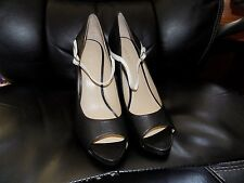 Nine West Top Shoe Women US 9 Black Open Toe Mary Janes Blemish  NWOT