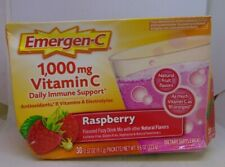 Emergen-C 1000mg Vitamin C Raspberry Daily Immune System Support 30 Packets
