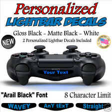 Set of 2 - Personalized Text PS4 Controller Lightbar Decals - FREE Shipping!