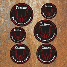 BUILT NOT BOUGHT CUSTOM STICKER SET Car Motorbike Hot Rod Cafe Racer Decal BRW