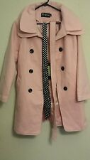 Hot~Luxury Womens Slim Double Breasted Coat Wool Jacket Winter Long Bowknot Belt