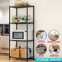 4 Tier Storage Rack Adjustable Metal Shelf Wire Shelve Kitchen Storage