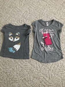 Justice Girls Shirts Size 7