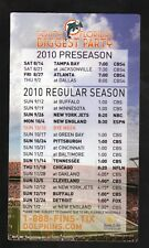 Miami Dolphins--2010 Magnet Schedule