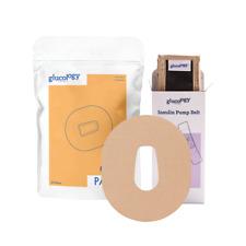 Glucology® Beige CGM Bundle | Insulin Pump Belt + 25 CGM Patches