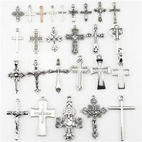 22404 26pcs Vintage Cross Pendant DIY Jewelry Marking Charm