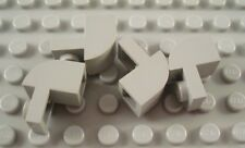 LEGO Lot of 4 Light Gray 2x1x1 1/3 Curved Top Brick Pieces