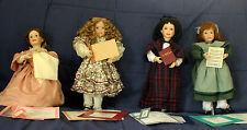 "Ashton-Drake - Set Of 4 - 15"" Porcelain Wendy Lawton Little Women Dolls"