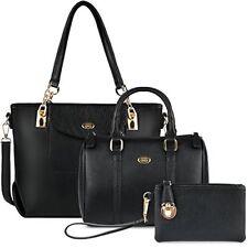 Womens Handbags,coofit 3pcs Handbag Set Tote Handbags Faux Leather Shoulder Bag