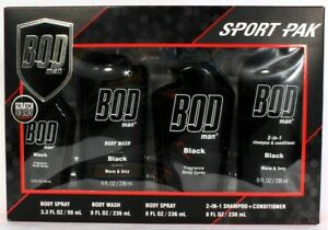 1BOD Man Sport Pak Black 4 Piece Gift Set Highest Quality Oils Lasting Fragrance