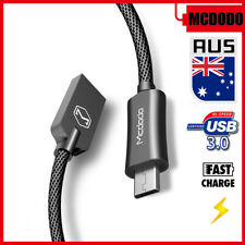 Micro USB Fast Charger Smart LED Data Sync Nylon Cord Cable For Android Samsung