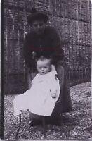 Madre E Bambino Francia Vintage Stampa Aristotipia Verso 1900