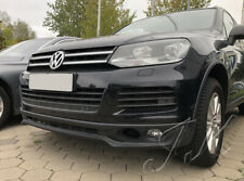 Fits VW Touareg 7P (2010-2014) - Front Lip Spoiler Diffuser Add On (R-Line Look)