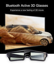 Active Shutter 3D Glasses Blue-tooth for Epson/Sony/Samsung 3D TVs USB Charging