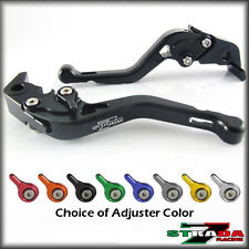 Strada 7 CNC Shorty Adjustable Levers Triumph 675 STREET TRIPLE 2008- 2014 Black