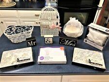Lot of Wedding Essentials : Card Holder, Bells, Guest Book, Ring Pillow, Basket