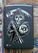 SKULLS SONS OF ANARCHY REAPER ZIPPO LIGHTER FREE P&P FREE FLINTS