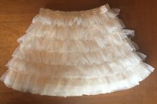 Baby Gap Girls Cream Tulle Ruffles Chiffon Satin Tutu Skirt Size 5