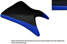DESIGN 2 BLACK & R BLUE CUSTOM FITS KAWASAKI NINJA ZX6R 03-04 FRONT SEAT COVER