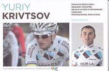 CYCLISME carte coureur YURIY KRIVTSOV équipe AG2R prévoyance 2011