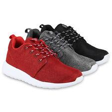 Damen Runners Glitzer Sportschuhe Sneakers Laufschuhe 816782 Schuhe