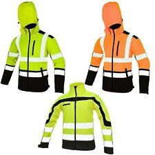 Warnschutz Jacke Softshelljacke Arbeitsjacke Warnjacke Softshell Jacke Gr.M-XXXL