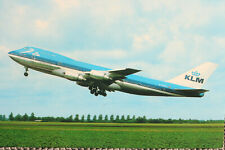 AK Airliner Postcard KLM B.747