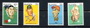Australia MNH #772-75 Sports Figures 4 Values Trumper Munro K430