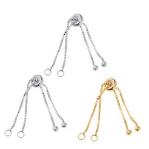 925 Silver Adjustable Slider Slide Extender Chain For Jewelry Bracelet Craft