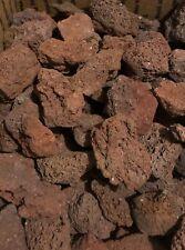 """Box of Extra Large Red Volcanic Lava Rocks 4-5"""" Fish Reptile Aquarium Terrarium"""