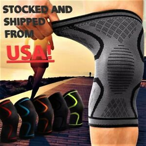 1x 2x Compression Knee Sleeve Brace/Running/Arthritis/Joint Support/Choose S-5XL
