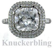 6.01ct Diamante Platinum anello di fidanzamento certificato G VS2 In buonissima condizione Taglio Cuscino