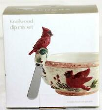 Sonoma Life + Style Knollwood Dip Mix Set Bowl & Spreader Cardinal + Other Birds