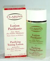 New Clarins Purifying Toning Lotion Matte Powders Finish Oily/Shiny Skin 6.8 oz