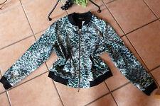 NO SECRET Shirt Jacke Bluse Gr. 44 NEU Mustermix Stretch LAGENLOOK schwarz weiß