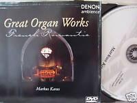 Markus Karas- Great Organ Works- French Romantic- DENON 1998- DVD-Video NEU
