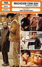 FICHE CINEMA : MACADAM COW BOY (mod.A) - Hoffman,Voight 1969 Midnight Cowboy