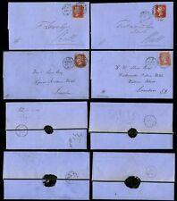 PENNY REDS 1867 MOURNING WRAPPERS 4 ITEMS Plates 71 78 80 95...HULL