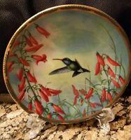 Broad Billed Hummingbird&Penstemon Nelson Gems of Nature Bradex Pickard Plate