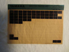 1981 Yamaha Motorcycle MX175H Microfiche Parts Catalog MX 175 H