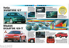 1995 ECLIPSE GS-T vs. Pontiac SUNFIRE GT Road Test Brochure, GST