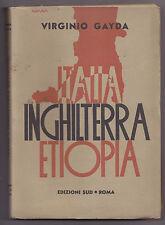 L543-COLONIE-V.GAYDA ITALIA-INGHILTERRA-ETIOPIA